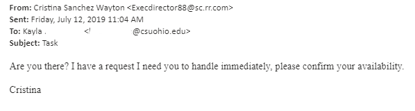 Phishing Notices Archive   Cleveland State University