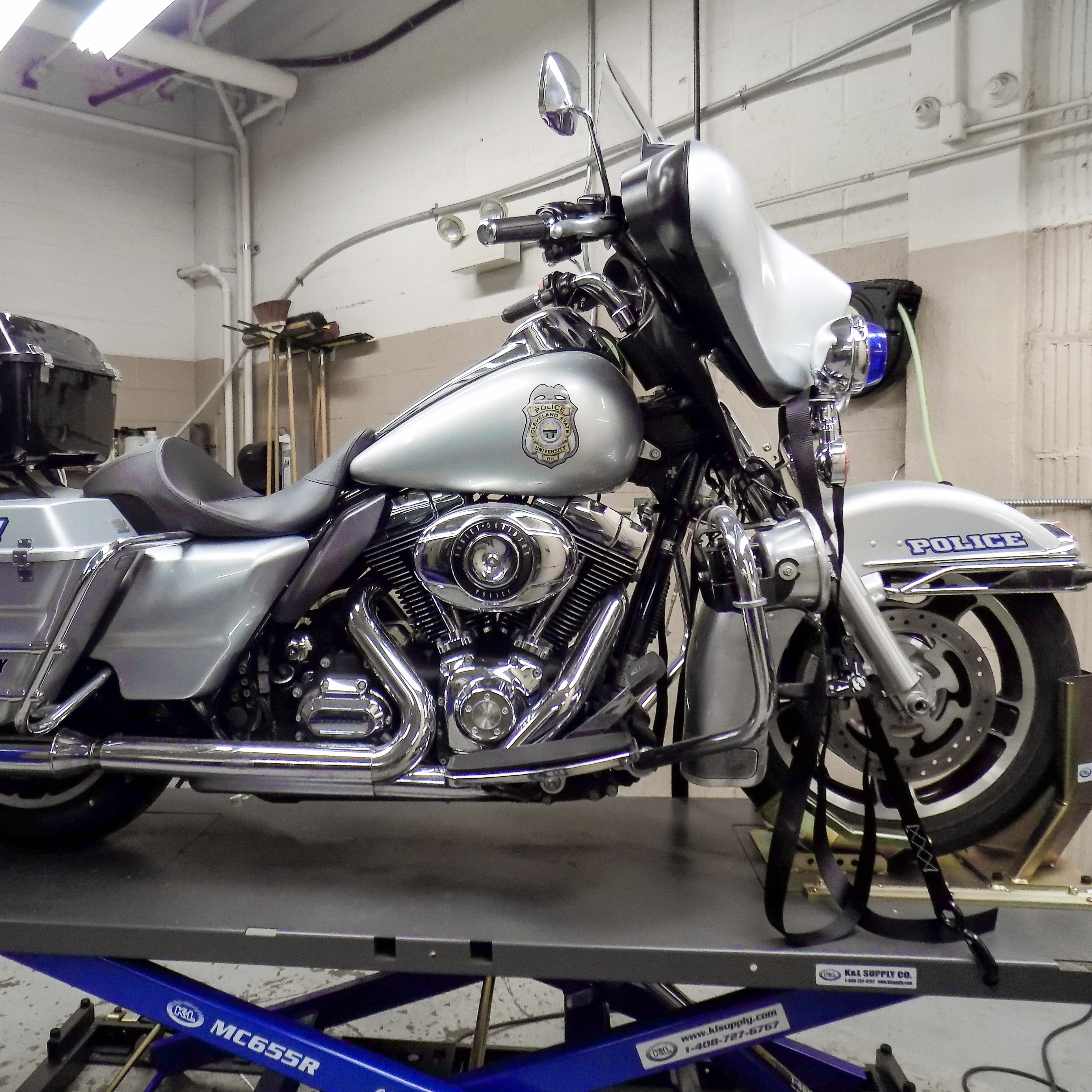 Motorcycle Being Worked On