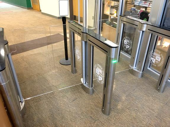 New CSU Rec turnstiles