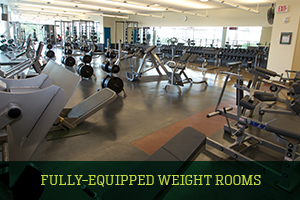 Fully-Equipped Weight Rooms